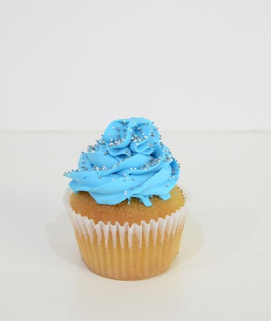 Classic blue cupcake