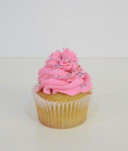 Classic pink cupcake