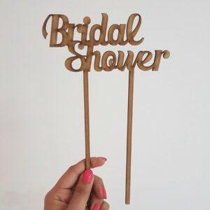 """""""Bridal Shower"""" laser-cut topper"""