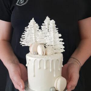 Frosty festive cake