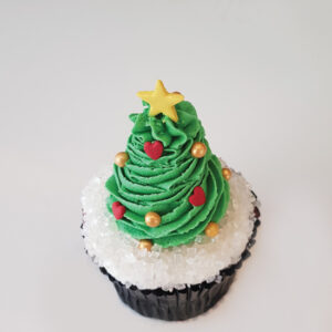 Festive tree cupcake