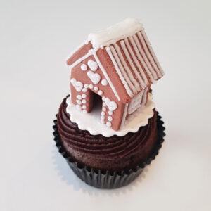 Festive gingerbread cupcake