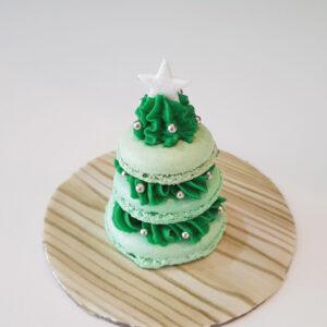 Festive tree macaron stack