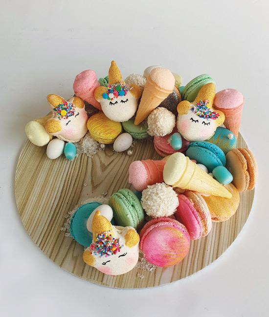 Unicorn macaron arrangement