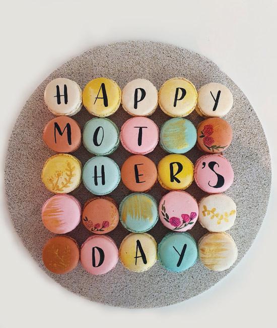 Mother's Day macaron arrangement