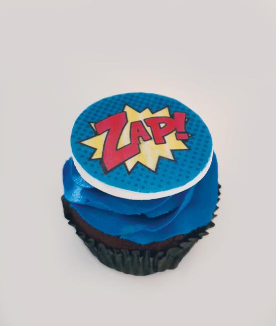 Custom edible print cupcake