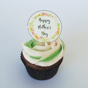 Rose swirl Mother's Day cupcake