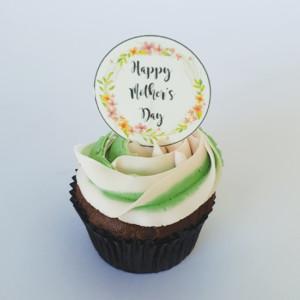 Rose swirl Mother's Day cupcake